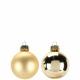 Bauble diameter 60mm, 30 pieces, gold matt + glan